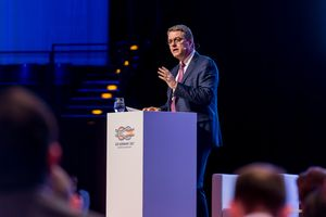 Picture of WTO Director General Azevêdo at the B20 Summit